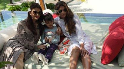 Photo alert: Aishwarya, Aaradhya and Shweta from their Maldives holiday