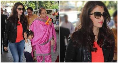 Aishwarya Rai Bachchan leaves for Punjab with daughter Aaradhya and mother Brinda