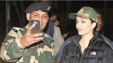 Aishwarya Rai Bachchan obliges jawans with selfies at  the Attari border, see pic