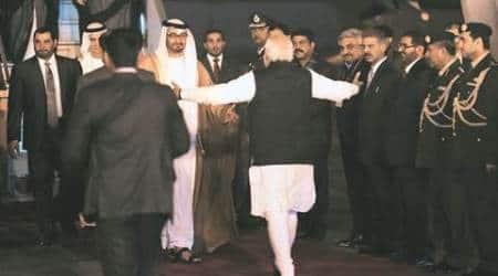 narendra modi, abu dhabi, Prince Sheikh Mohamed bin Zayed Al Nahyan, abu dhabi crown prince in delhi, UAE, india UAe