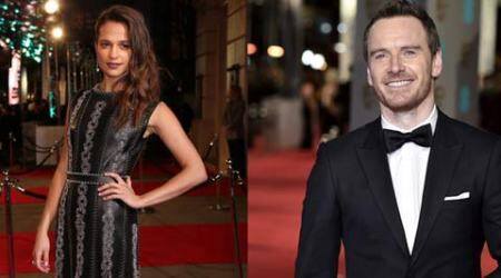 Michael Fassbender, Alicia Vikander avoid Bafta 'Kiss Cam'