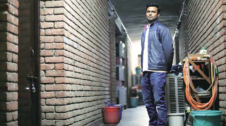 Alok Singh, head of JNU wing of ABVP. (Express Photo: Oinam Anand)