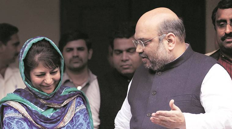 PDP, BJP, Jammu and Kashmir, PDP BJP alliance, PDP BJP coalition, PDP BJP coalition breakdown,  Jammu and Kashmir government, Kashmir government, Mehbooba Mufti, India news