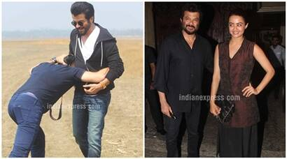 Anil Kapoor shoots for 24, later parties with Surveen, Anupam Kher