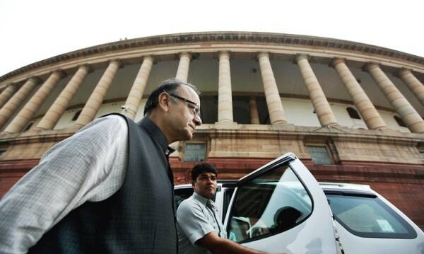 Finance minister Arun Jaitley arrives to attend parliament committee meeting at Parliament house, as parliament winter session will start on November 26 to December 23, in New Delhi on Nov 9th 2015. Express photo by Ravi Kanojia.
