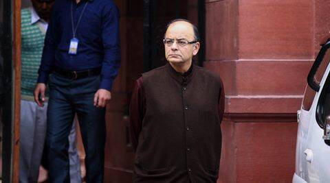 Union Minister Arun jaitley after cabinet Meeting at PMO South Block in New Delhi on Wednesday. Express Photo by Prem Nath Pandey. 13.01.2016.