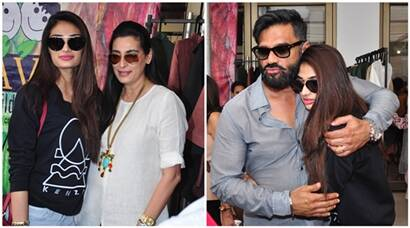 Aathiya's day out with mom Mana and father Suniel Shetty