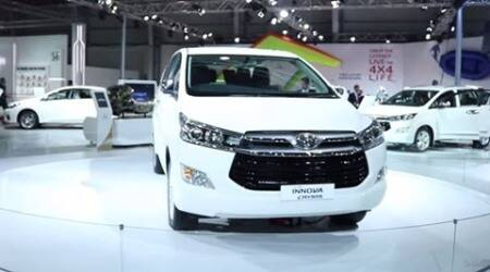 Toyota Innova Crysta 2016 showcased at the Delhi Auto Expo 2016: First Look Video