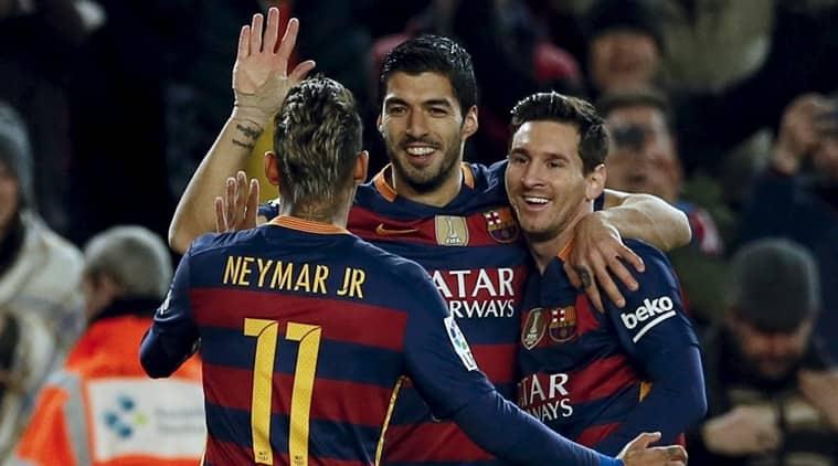 Barcelona win, Barcelona, Luis Saurez hattrick, Saurez goals, Saurez hattrick, Lionel Mess goals, Lionel Messi hattrick, Messi Hattrick, football news, Football