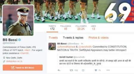 Delhi Police chief BS Bassi responds to parody Twitter account of Ravish Kumar, getstrolled