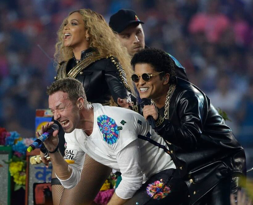 Beyonce, Coldplay, Super Bowl, Super Bowl 2016, Bruno Mars
