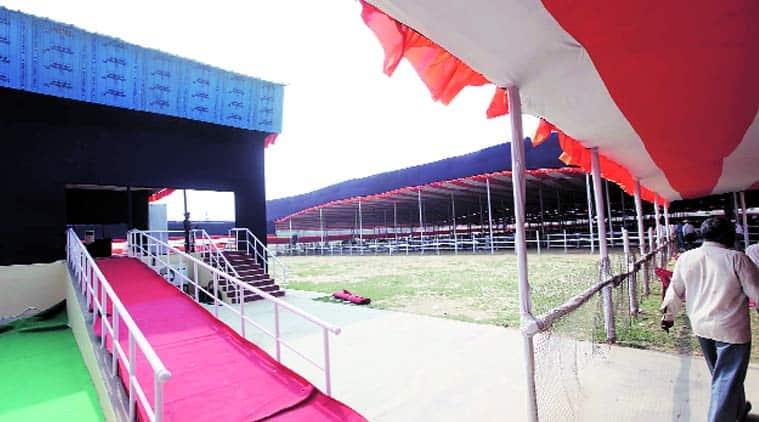 Preparation in full swing for the convocation at BHU on Sunday. Vishal Srivastav