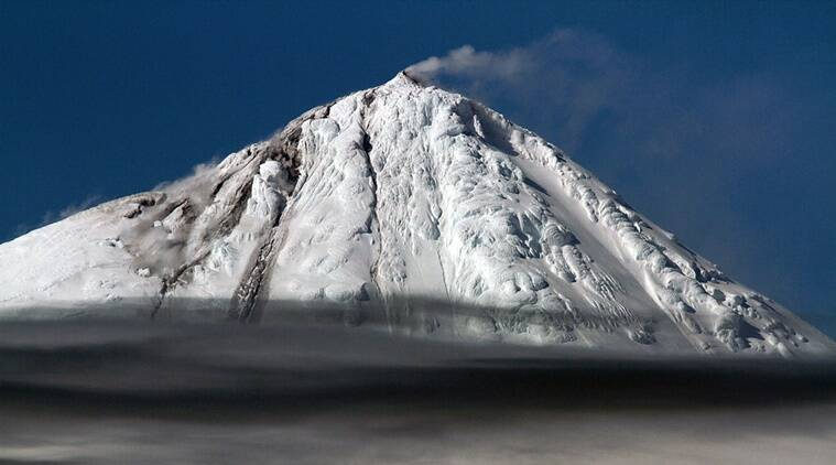 A picture of one of the Big Ben volcano's rare eruptions, captured by the scientific crew aboard the research vessel — the Investigator. (Source: Pete Harmsen via Blog.csiro.au)