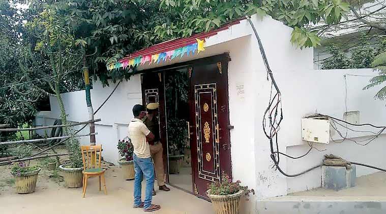 The MLA's house where the alleged rape took place. It was sealed Sunday. (Express Photo)