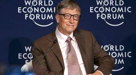"""Philanthropist and co-founder of Microsoft, Bill Gates attends a panel """"Preparing for the Next Pandemic"""" at the World Economic Forum in Davos, Switzerland, Friday, Jan. 22, 2016. (AP Photo/Michel Euler)"""