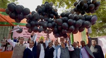 Arvind Kejriwal completes 1 year as CM: BJP observes 'Black Day' in Delhi