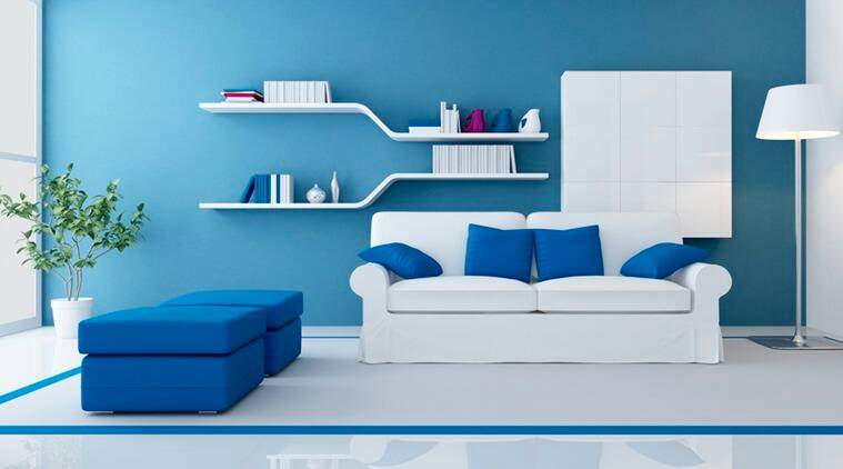 Add a touch of elegance: Colour your walls blue. (Photo: Thinkstock)