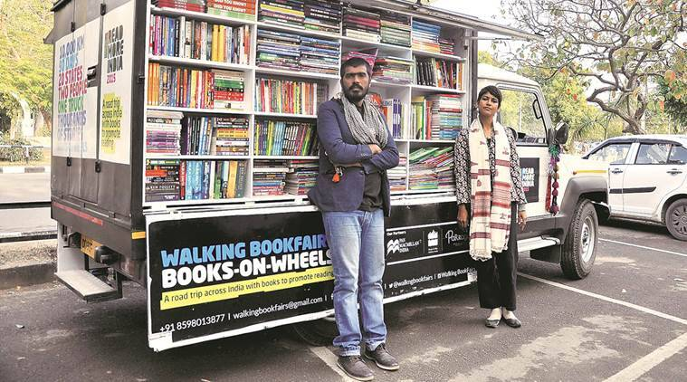 Books on wheels, Chandigarh, Book fair van, Bhubaneshwar, children books, importance of books, promoting books, great initiatives, amazing indians, interesting news, book reading, excess to books, public libraries