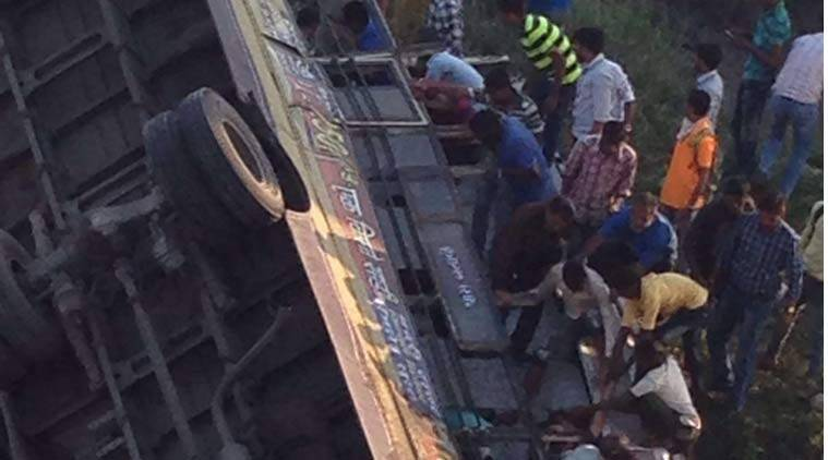 gujarat bus accident, bus accident gujarat, surat bus accident
