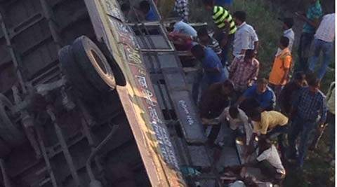Gujarat, Gujarat death toll, Navsari bus mishap, bus mishap, gujarat bus mishap, Gujarat State Road Transport Corporation, GSRTC, gujarat news