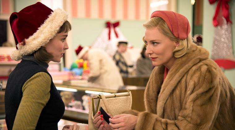 Carol movie review, Carol Review, Cate Blanchett, Rooney Mara, Sarah Paulson, Carol, Carol Film Review, Movie review, review, Stars, Ratings, Carol three and half stars, Carol Ratings