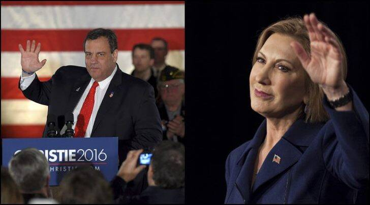 Chris Christie (left) and Carly Fiorina opted out of the 2016 White House race