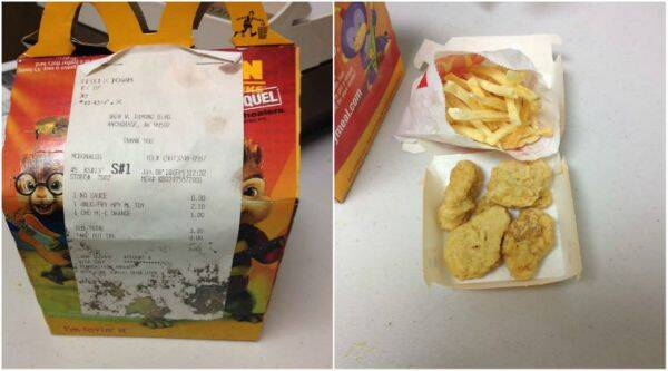 A woman from Alaska kept a happy meal in her fridge for six year and turns out it looks exactly the same/ Facebook