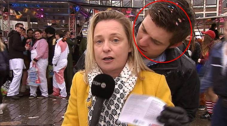 The journalist was groped during a live broadcast. Image: RTBF