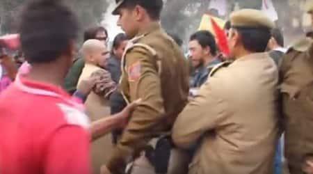 RSS, Protest Delhi, delhi police, police assault video, kejriwal, arvind kejriwal , kejriwal delhi police, police kejriwal, kejriwal news, police video