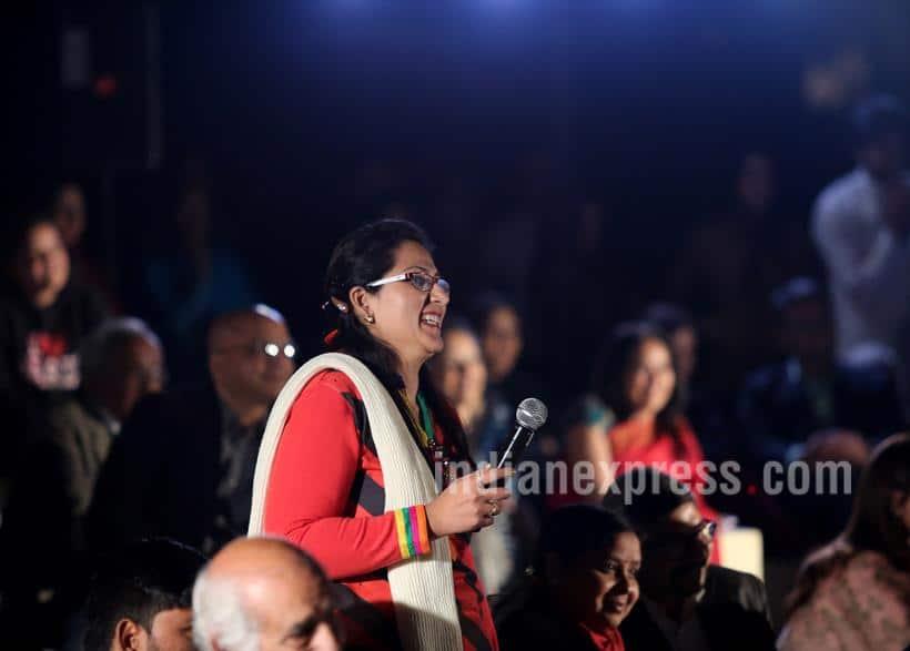 Express Adda, Sri Sri Ravi Shankar, Prasoon Joshi, Vandita mishra, Express Adda Sri Sri Ravi Shankar, Express Adda pics, #ExpressAdda, Express Adda Photos