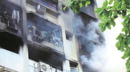 Mumbai: Fire in highrise damages several flats