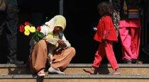 Life is not a bed of roses for these little 'flower girls'