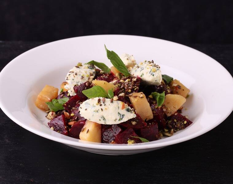 Beet Poetry: Fraiche, French for fresh, is a salad that lives up to its name with crunchy lettuce, cubed beetroots, mint, mustard, caramelised apples all tossed together with lots of sour cream.