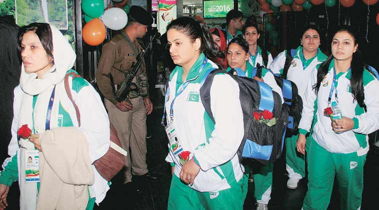 The Pakistan Contingent Arrives In Guwahati For The South Asian Games Source Pti