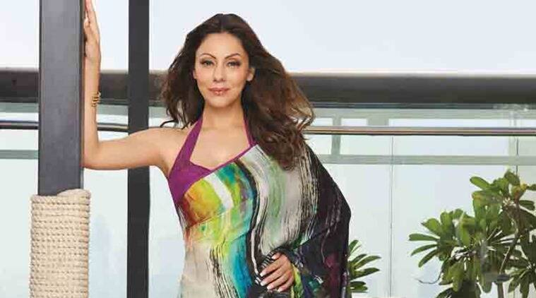 Gauri Khan wearing a sari from the Cocktails With Dreams collection.