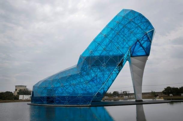 Taiwan's huge glass shoe church is a tribute to women