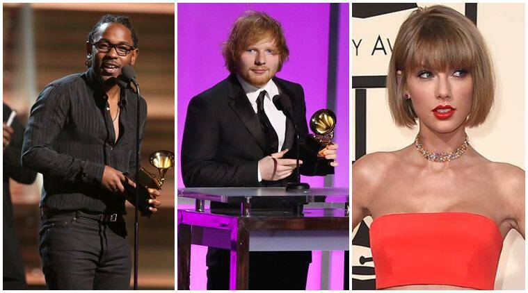 Grammy Awards, Grammys 2016, Grammys, Taylor Swift, Ed Sheeran, Kendrick Lamar