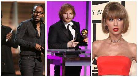Big Winners at the 58th annual Grammy Awards: Ed Sheeran, Taylor Swift