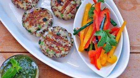 How to make healthy green tea-smoked ragi cutlets