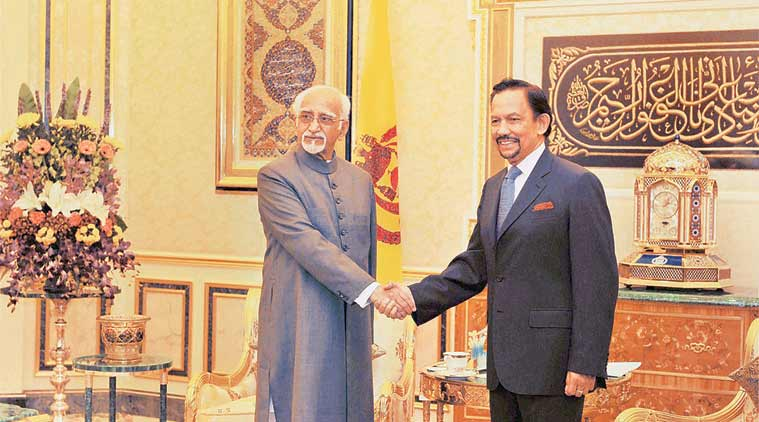 hamid ansari, Brunei, india, india vice president, india news, Brunei news, hamid ansari in Brunei, india vice president in Brunei,Brunei news