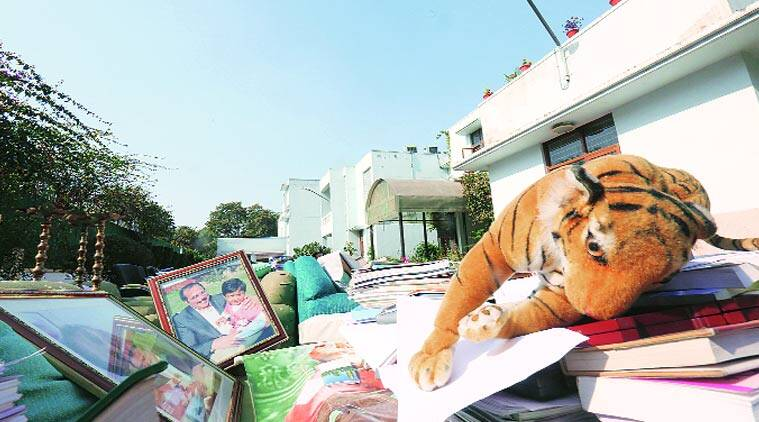 By late Wednesday afternoon, workers had brought most of Congress MP Adhir Ranjan Chowdhury's belongings outside his New Moti Bagh bungalow to be transported to his new house at Humayun Road.  Anil Sharma