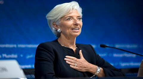 FILE - In this Thursday, Oct. 8, 2015, file photo, International Monetary Fund chief Christine Lagarde answers a question during a news conference, in Lima, Peru. In a statement Thursday, Feb. 11, 2016, the IMF executive board said they've nominated Lagarde for a second five-year term. (AP Photo/Rodrigo Abd, File)
