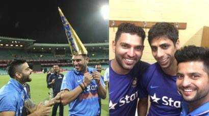 Here's how Yuvraj Singh, Virat Kohli, Suresh Raina and Team India celebrated series win over Australia