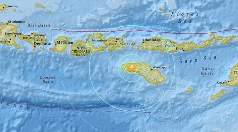 Screenshot of Impact map. (Source: USGS website)
