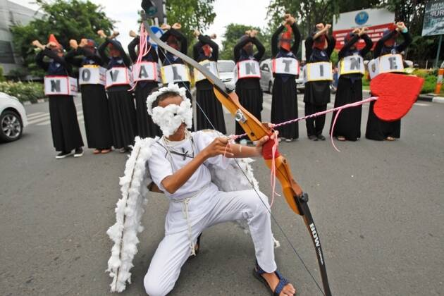 Valentines Day, Valentines Day protest, Indonesia, protest, Valentines Day Indonesia, Indonesia protest, Valentines Day news
