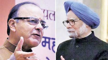 Arun Jaitley, Manmohan Singh, Finance Minister, Prime Minister, growth process, policy paralyses, Congress, BJP, Congress corruption, Jaitley attacks Manmohan, manmohan attacks modi, NArendra Modi