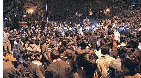 JNU, JNU president arrested, JNU campus, JNU afzal guru, JNU anit india slogans, JNU protests, JNU afzal guru, JNU afzal guru event, jnu protests, afzal guru jnu protests, jnu arrests, delhi news, india news