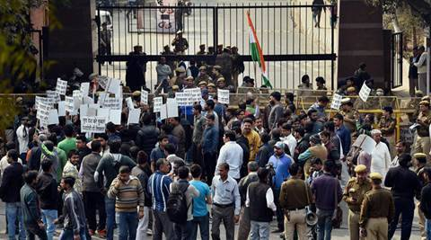 Jawaharlal Nehru University, JNU, Kanhaiya Kumar, Sedition, Anti-National, JNU protests, JNUSU, JNU teachers, ABVP, Afzal Guru, Maqbool Bhatt, Anti-National activity, JNU news, Kanhaiya Kumar news, BJP on JNU row