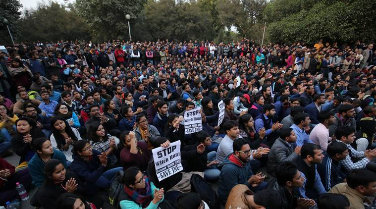 jawaharlal nehru university, jnu protest, jnu, jnu sedition case, kanhaiya kumar, JNUSU president arrest, article 66A, sedition laws in india, M F Husain india exile, Shreya Singhal, freedom of speech, supreme court, gujarat high court, india news, latest news, jnu news, idnian express column