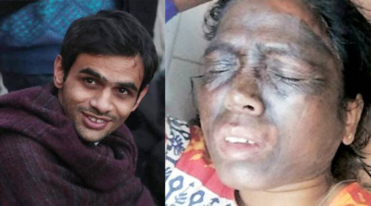 Umar Khalid(L), Sori after the attack.